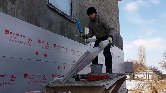 Крепление пеноплекса к бетонной стене — Твой кирпич